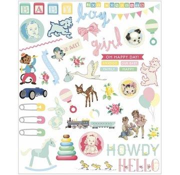 Embellishments / Verzierungen Baby Udsmykninger, 96 dele!