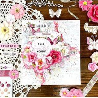 "Prima Marketing und Petaloo Cards and Scrapbook, Embellishments, ""Misty Rose"" - Copy"
