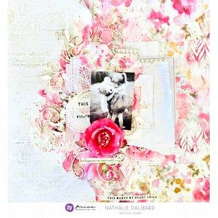 """Prima Marketing und Petaloo Vintage Karten und Scrapbook , Embellishments, """"Misty Rose"""" Journaling Cards"""