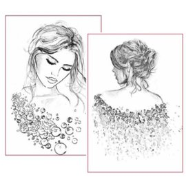Stamperia Papier Riz Stamperia A4, Portraits De Femme