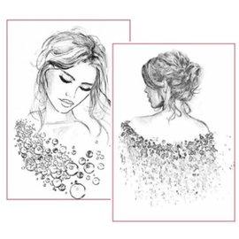 Stamperia Stamperia rispapir A4, kvindeportrætter