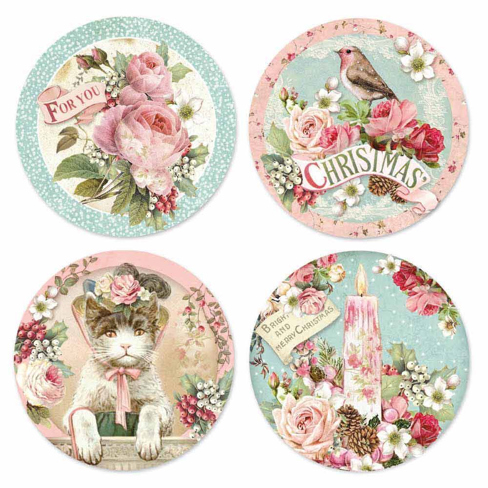 Christmas crafts, decoupage, rice paper