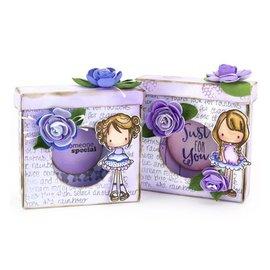 Leane Creatief - Lea'bilities und By Lene 4 cajas precortadas con pliegues, en blanco para decorar