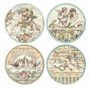 Stamperia Jul håndværk, ris papir klæbrig, Angel motiver, 21x21cm