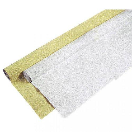 Bilder, 3D Bilder und ausgestanzte Teile usw... Papier crêpé aluminium, 250x50cm, rouleau