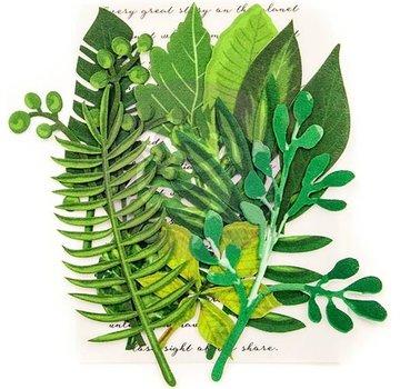 Prima Marketing und Petaloo Scrapbooking Verzierungen, Blätter Evergreen