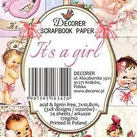 Karten und Scrapbooking Papier, Papier blöcke Baby Papier Block, 7,0 x 10,8 cm