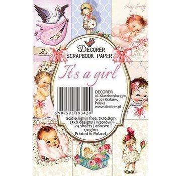 Karten und Scrapbooking Papier, Papier blöcke Babypapirblok, 7,0 x 10,8 cm