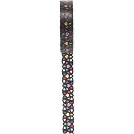 DEKOBAND / RIBBONS / RUBANS ... Washi tape med blonder mønster, W 10 mm, 5m
