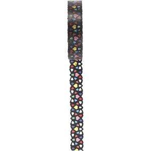 DEKOBAND / RIBBONS / RUBANS ... Ruban Washi à motif dentelle, L 10 mm, 5 m