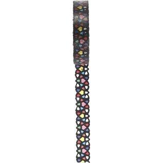 DEKOBAND / RIBBONS / RUBANS ... Washi tape with lace pattern, W 10 mm, 5m