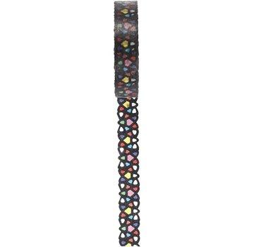 DEKOBAND / RIBBONS / RUBANS ... Washi Tape mit Spitzenmuster, B 10 mm, 5m