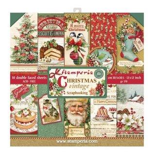 Stamperia und Florella Stamperia: Scrapbooking Paperblock, Christmas Vintage