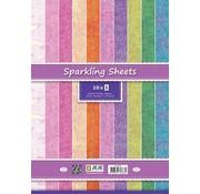 Stamperia Scrapbooking Paperblock, papier à paillettes