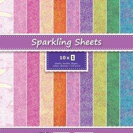 Stamperia Scrapbooking Paperblock,  Glitzer Papier