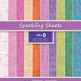 Stamperia Scrapbooking Paperblock, papel brillo