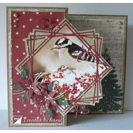 Joy!Crafts / Jeanine´s Art, Hobby Solutions Dies /  Stanzschablonen, Joy Crafts, 6002/1072  Rahmen mit Zweigen,  124x115 mm