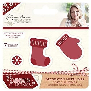 Tattered Lace Stencils, Cozy Christmas, Christmas Stocking og Glove