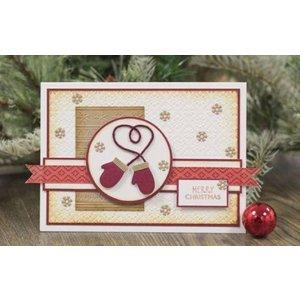 Tattered Lace Stanzschablonen, Cosy Christmas, Weihnachtsstrumpf und Handschuh
