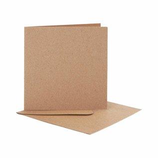 KARTEN und Zubehör / Cards 10 Karten +10 Umschlägen in Kraft Papier