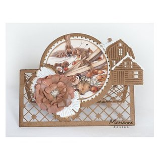 Marianne Design prentenvel A4, de mooiste winter van Mattie