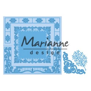 Marianne Design cutting dies, Anja's lacy folding: square