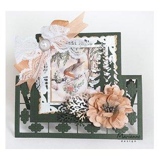 Marianne Design Stanzschablonen, Anja's lacy folding: square - letzte verfügbar!