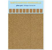 REDDY Bastelkarton Mikrowelle, 230g./qm, Format A4, glitter gold
