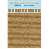 Cardboard microwave, 230g./qm, A4 format, glitter gold