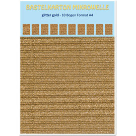REDDY 10 sheets! Cardboard microwave, 230g./qm, A4 format, glitter gold