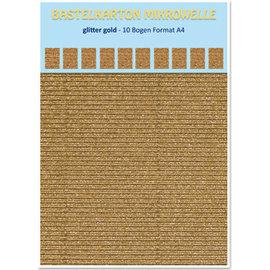 REDDY 10 vellen! Knutsel Karton, 230 g / m², A4-formaat, glitter goud