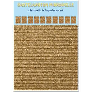 REDDY Carton micro-ondes, 230g / m², format A4, paillettes dorées