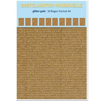 REDDY Microonda in cartoncino, 230 g / mq, formato A4, glitter oro