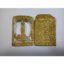 REDDY 10 Blatt! Bastelkarton Mikrowelle, 230g./qm, Format A4, glitter gold