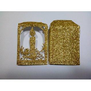 REDDY 10 sheets! Cardboard microwave, 230g./qm, A4 format, glitter gold