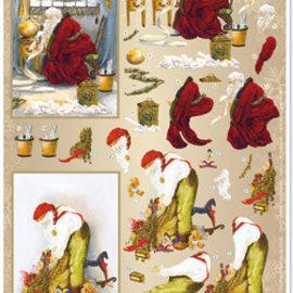 Bilder, 3D Bilder und ausgestanzte Teile usw... basteln für Weihnachten, 3D-Stanzbogen Nostalgie