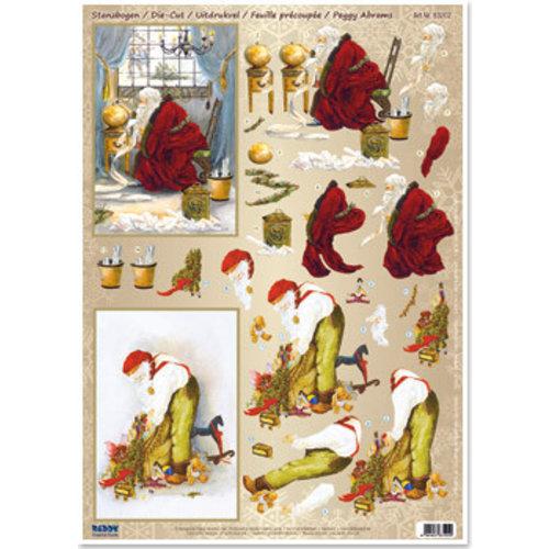 Bilder, 3D Bilder und ausgestanzte Teile usw... bricoler pour Noël, nostalgie de la feuille de poinçonnage 3D