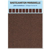 REDDY Craft karton mikrobølgeovn, 230g./qm, format A4, glitter mørk brun