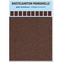 Craft carton microwave, 230g./qm, format A4, glitter dark brown