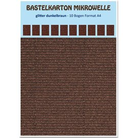 REDDY 10 ark! Håndverks kartong mikrobølgeovn, 230 g / kvm, format A4, glitter mørkebrun