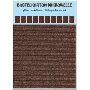REDDY 10 sheets! Craft carton microwave, 230g./qm, format A4, glitter dark brown