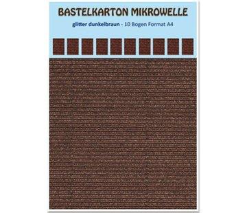 REDDY Ambachtelijke kartonnen magnetron, 230 g./qm, formaat A4, glitter donkerbruin