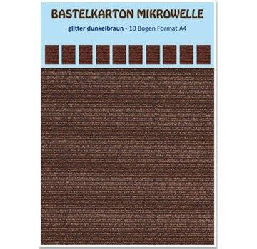 REDDY Bastelkarton Mikrowelle, 230g./qm, Format A4, glitter dunkelbraun