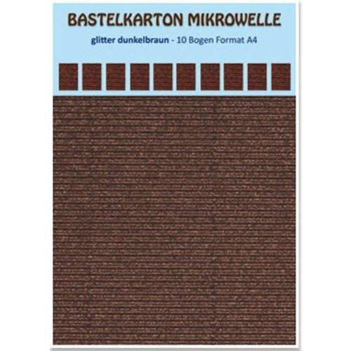 REDDY Carton micro-ondes en carton, 230g / m², format A4, paillettes brun foncé