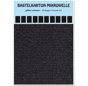 REDDY Karton mikrobølgeovn, 230g./qm, format A4, glitter sort