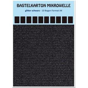 REDDY Bastelkarton Mikrowelle, 230g./qm, Format A4, glitter schwarz
