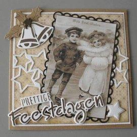 Vintage, Nostalgia und Shabby Shic VINTAGE CARD TOPPERS, 3 x 7 Motive