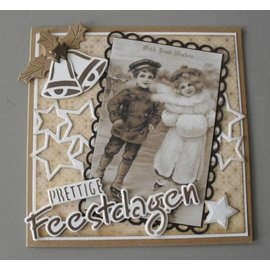 Marianne Design VINTAGE CARD TOPPERS, 3 x 7 Motive