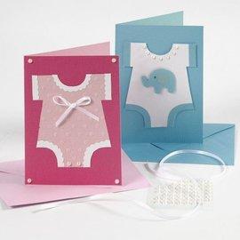KARTEN und Zubehör / Cards Cartes de correspondance, taille 10,5x15 cm, rose / rose, 10 pièces