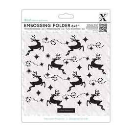 Docrafts / X-Cut Embossing folder, reindeer